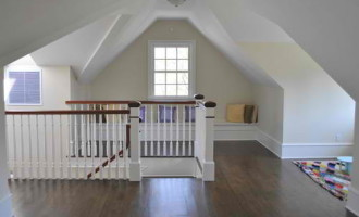 Attic Into Livable Space traditional-hall